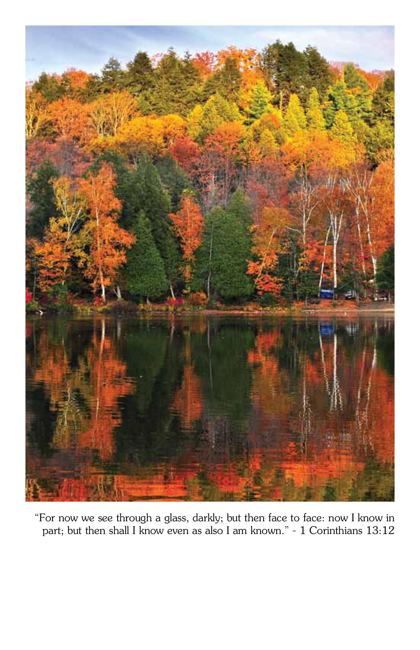 Fall Bulletin Cover   1 Corinthians 13:12 - Master Sunday ...