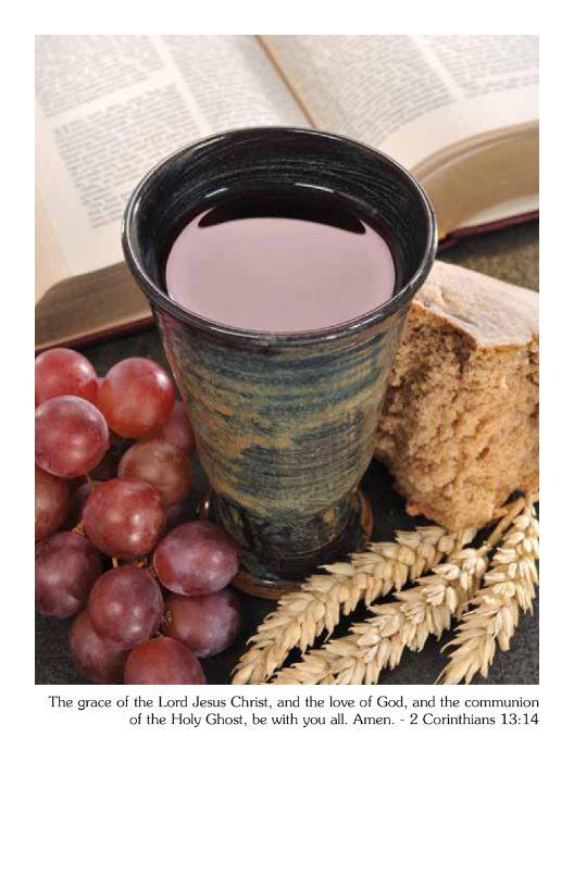 Communion Bulletin Cover | 2 Corinthians 13:14 - Master ... | 528 x 816 jpeg 58kB